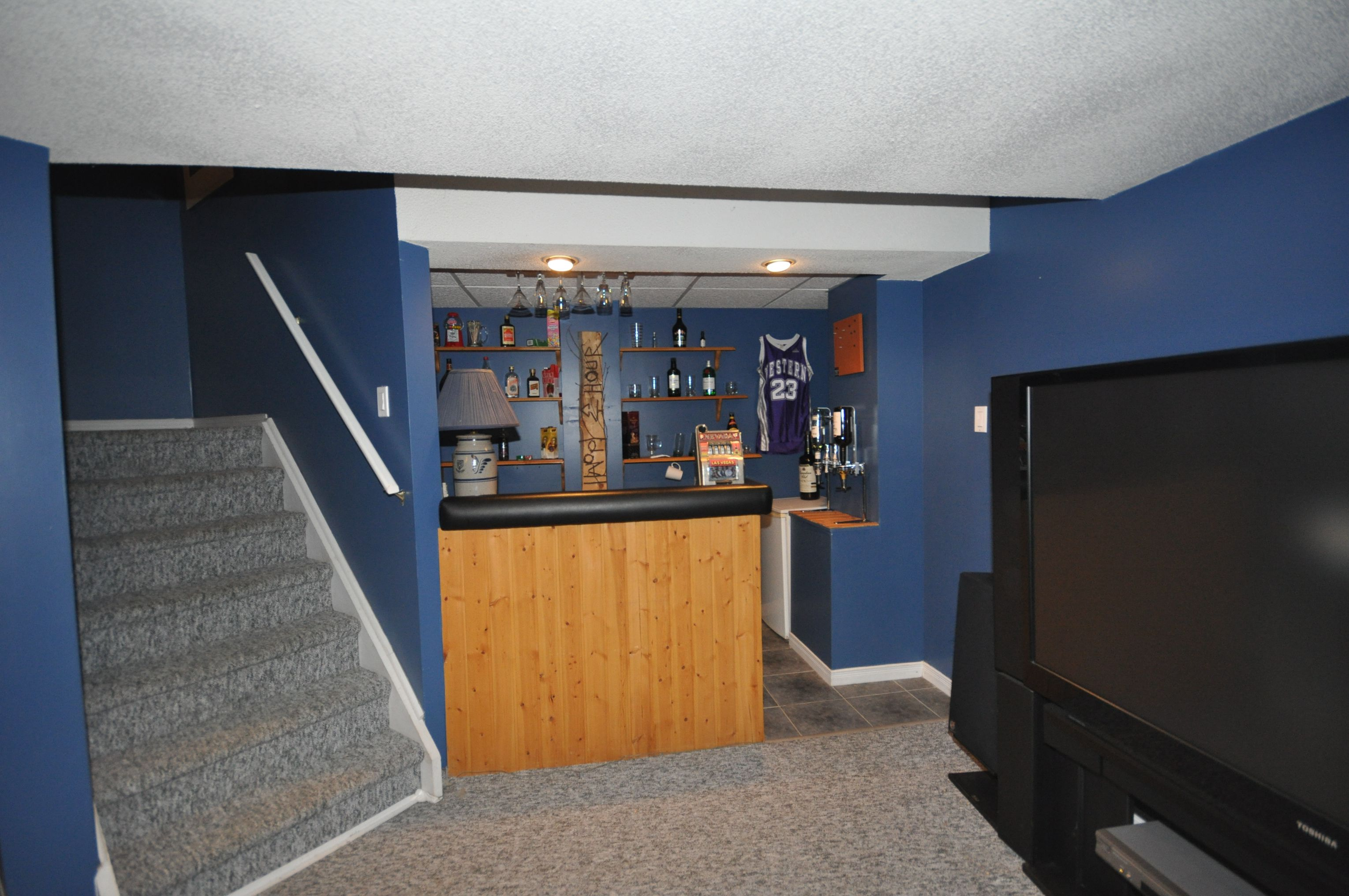 Wet bar in the Lower Level