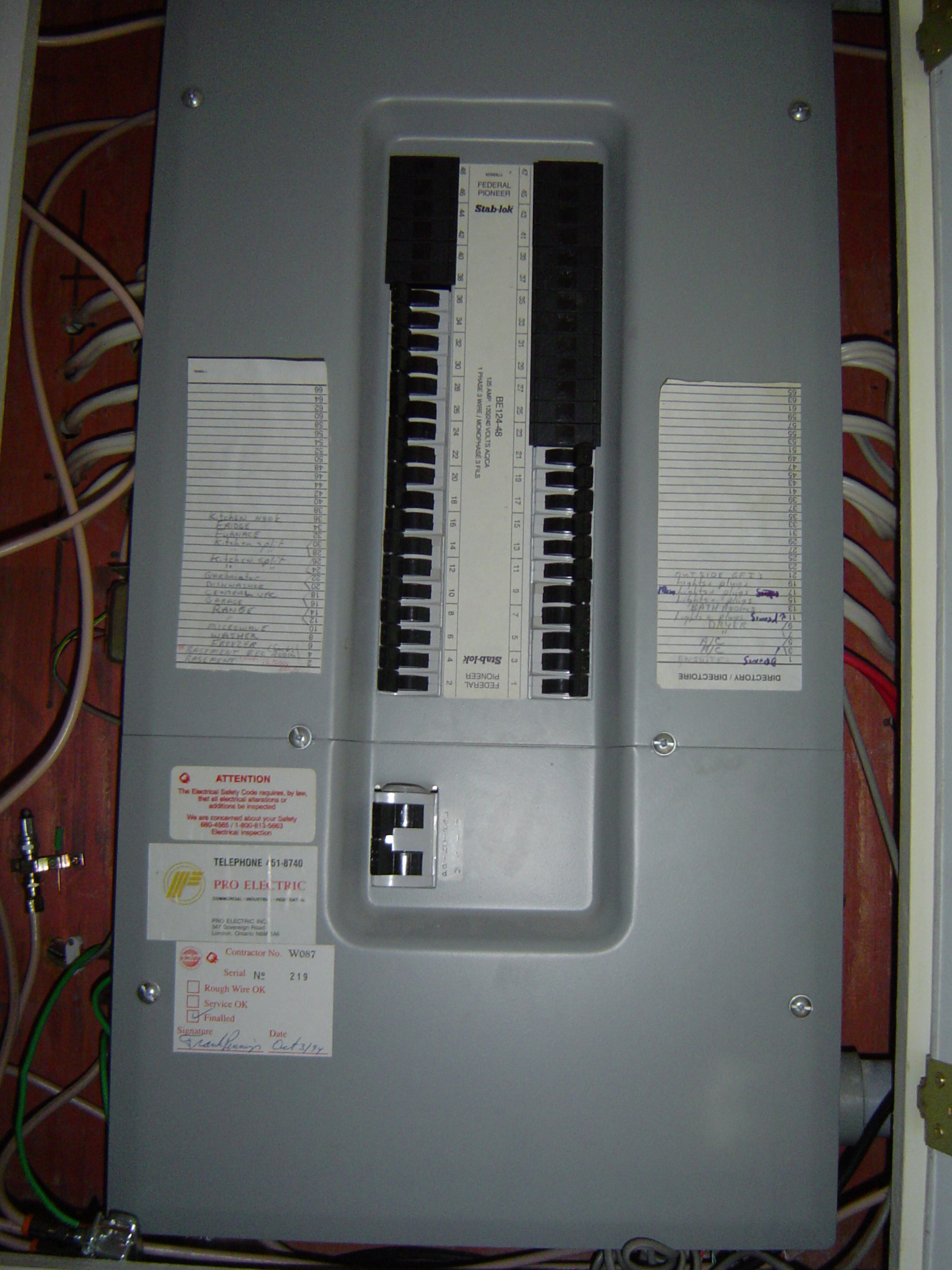 100 Amp Breaker Panel