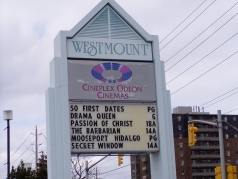 Westmount Mall has plenty to offer including the Cineplex Odeon