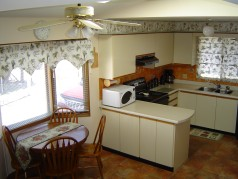 Eat in kitchen with windowed eating area.