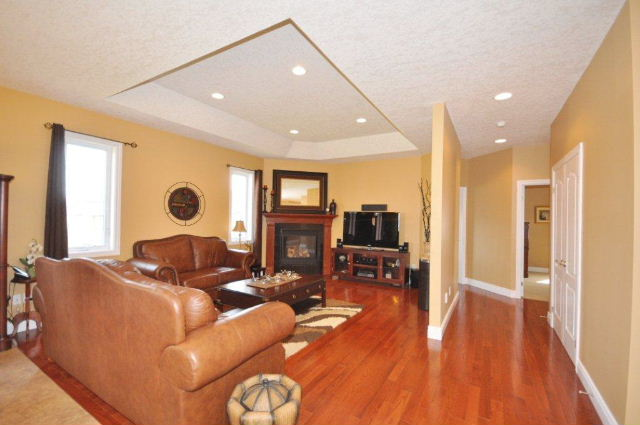 Great Room with Tray Ceiling