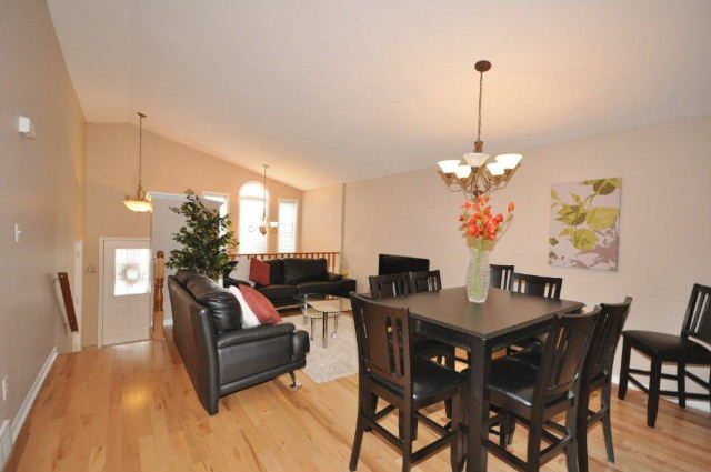 Open concept living /dining room
