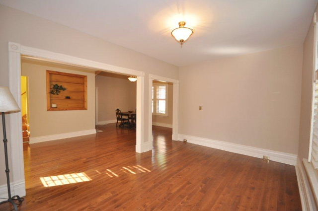 Open concept Living/Dining room plus space for office