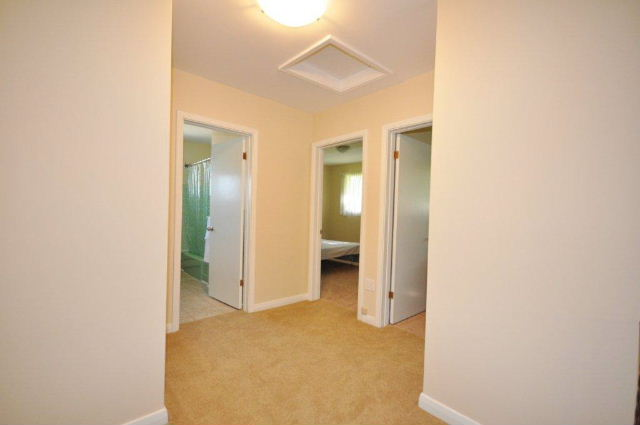 Upper level hallway to 4 bedrooms