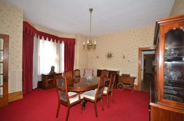 Large Formal Dining Room with Bay Window