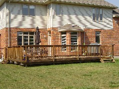 Large summer sundeck for entertaining family & friends