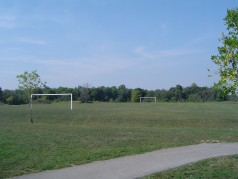 Enjoy a game of soccer at the park