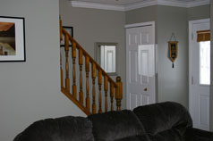 Open staircase to 2nd floor