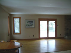 Family room with door to sundeck