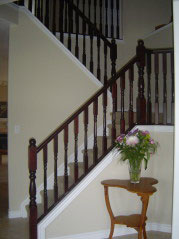 Lovely staircase leading upstairs