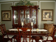 Formal dining room at front of house will sit 12