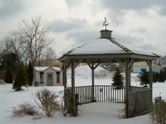 Backyard cedar gazebo