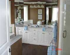 Fabulous master ensuite with his & her sinks, coni marble shower & wall of mirrors